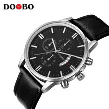 2017 Quartz Watch DOOBO Mens Watches Top Brand Luxury Sport Watch Men Fashion Man Wristwatches Leather Strap Relogio Masculino