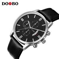 2018 Quartz Watch DOOBO Mens Watches Top Brand Luxury Sport Watch Men Fashion Man Wristwatches Leather