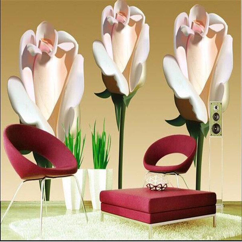 цены  photo wallpaper Stereoscopic Pink roses romantic natural beauty backdrop flower living room bedroom wall mural luxury wallpaper