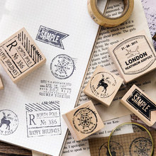 Classic Postmark Clear Stamps for Scrapbboking Wooden and Rubber Stamps DIY Craft Clear Stamp Cutting Dies Stamp