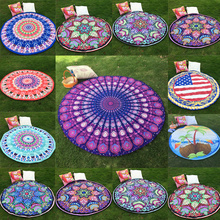 Fashion Indian Sexy Summer Boho Printed Beach Hippie Round Mandala Tapestry Wall Hanging Throw Towel Scarf Shawl Wrap Yoga Mat