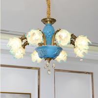 Modern Chandelier Lighting Modern Lustre Wrought Glass Lamps Lustre Crystal Chandeliers Coffee Shop Wedding Bar LED
