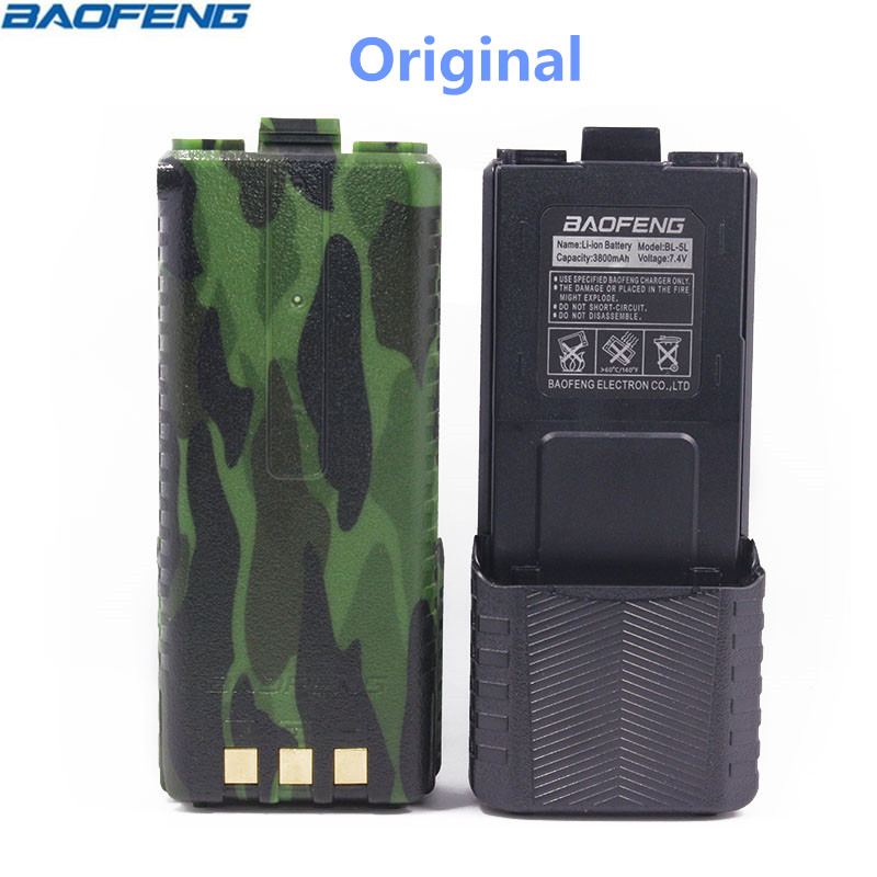 Original BAOFENG UV-5R BL-5L 7.4V 3800mAh Li-ion High Capacity Battery For Baofeng Walkie Talkie UV-5R Series Two Way Radio