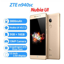 ZTE V5 Pro ZTE n940sc 5.5 дюйм(ов) Octa core Android 5.1 мобильный телефон 3 ГБ Оперативная память 16 ГБ Встроенная память 4 г FDD LTE 13.0mp FHD 1080 P отпечатков пальцев