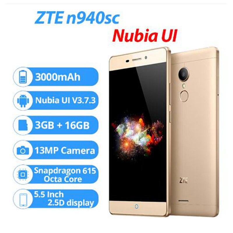 ZTE V5 Pro ZTE N940sc 5.5 Inches Octa Core Android 5.1 Mobile Phone 3GB RAM 16GB ROM 4G FDD LTE 13.0MP FHD 1080P Fingerprint