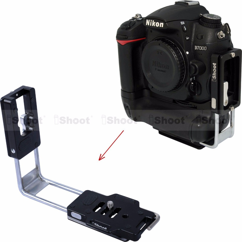 Universa Quick Release L Plate Bracket Grip Vertical Shoot L Bracket for Canon Nikon Pentax Sony Olympus Fuji Sigma Camera
