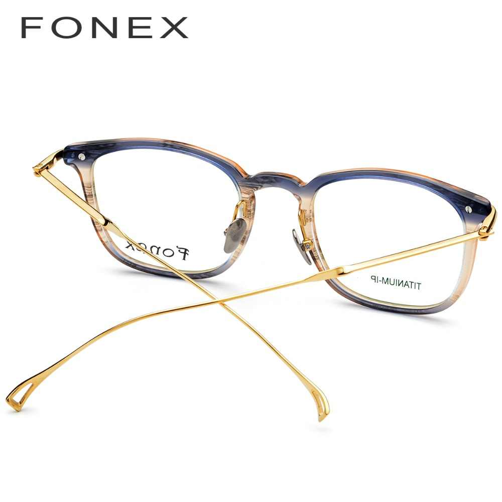 3bb9ae63f31 ... Pure B Titanium Acetate Optical Glasses Frame Men Myopia Prescription  Eyeglasses Women Ultralight Transparent Spectacles Eyewear ...