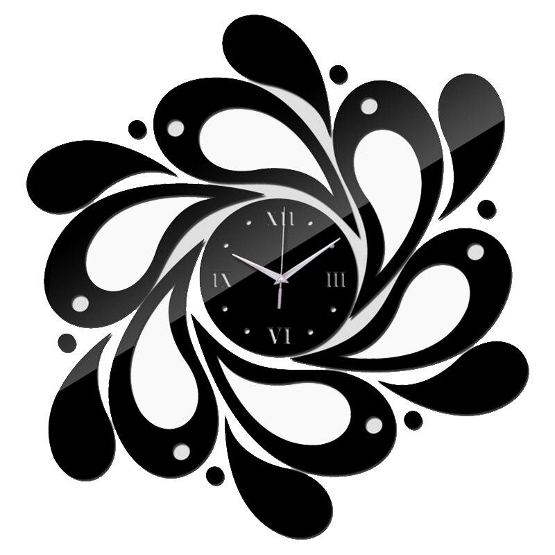 Новинка 2017 Лидер продаж домашний декор, акриловые искусства настенные часы украшения з ...