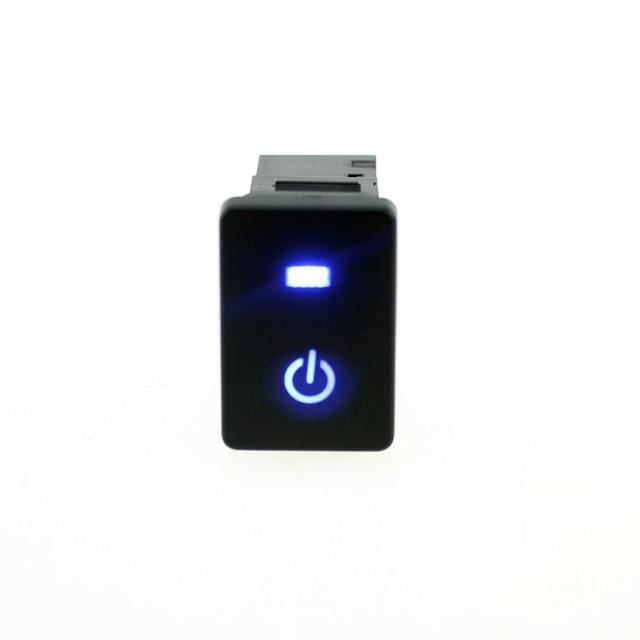 12 V Padrão Botão Interruptor Carro Começando com 15 centímetros de Cabo para Toyota Camry Corolla Vios Yaris Reiz Prado -a Luz azul