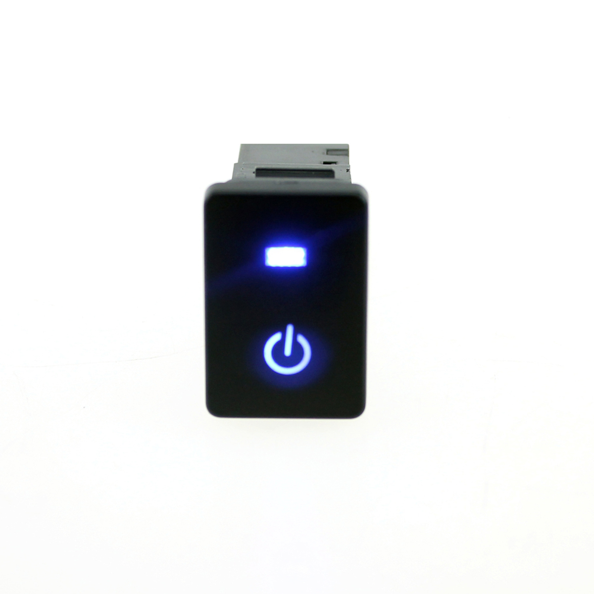 12V Car Switch Starting Pattern Push Button with 15cm Cable for <font><b>Toyota</b></font> Camry Yaris <font><b>Corolla</b></font> Vios Reiz Prado - Blue Light image