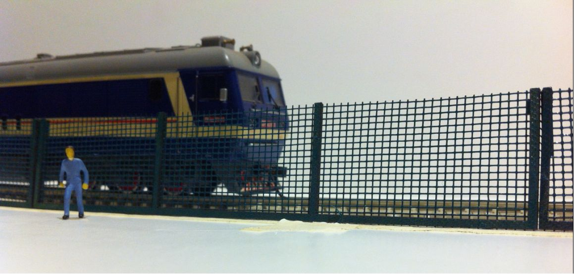 Train Model Building Scenery Sand Railroad Railing  Train Fence Guardrail HO 1:87 HO-03