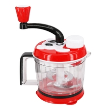 1.5L Kitchen Manual Cutting Machine Mixer Hand-Cranked Meat Pepper Grinder Vegetable Chopper Stainless St