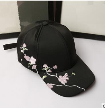 Free shipping HELAN All-match Ms. winter plum embroidery outdoor sunshade peaked cap baseball cap крем helan успокаивающий заживляющий крем для груди helan linea mamma 30 мл