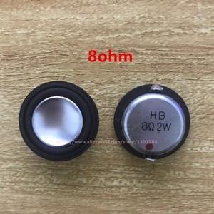Image 3 - 2x2W 4ohm / 8ohm 28mm tam frekanslı mini hoparlör yuvarlak ultra ince Bluetooth DIY