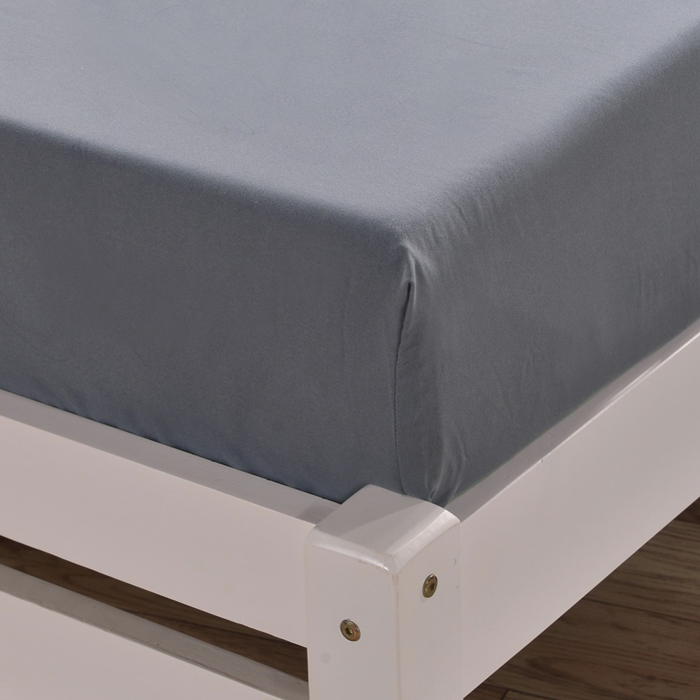 Deep Fitted Sheets Queen Size Us 39 56 Solid Color Deep Pocket Bed Fitted Sheet Queen King Size Mattress Cover Microfiber Fabric Thick Sanding Bed Sheets With Elastic In Sheet
