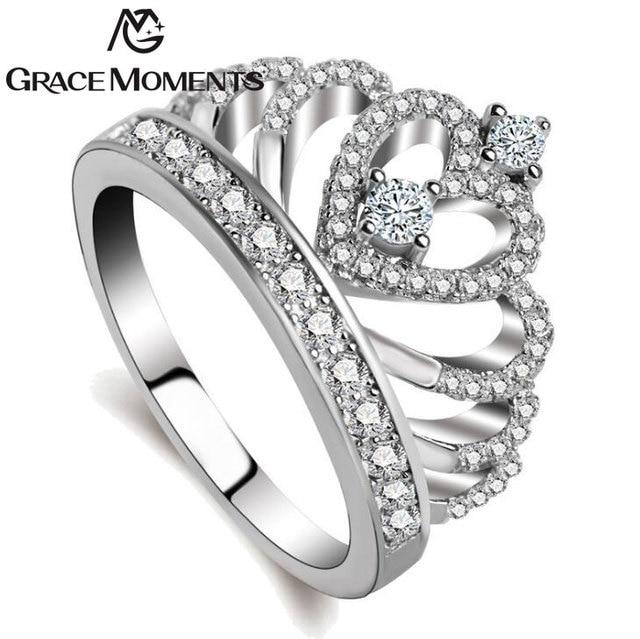 Fashion Ring Jewelry Womens S Tiara Rings Wedding Engagement C S925 Cubic Zirconia Finger