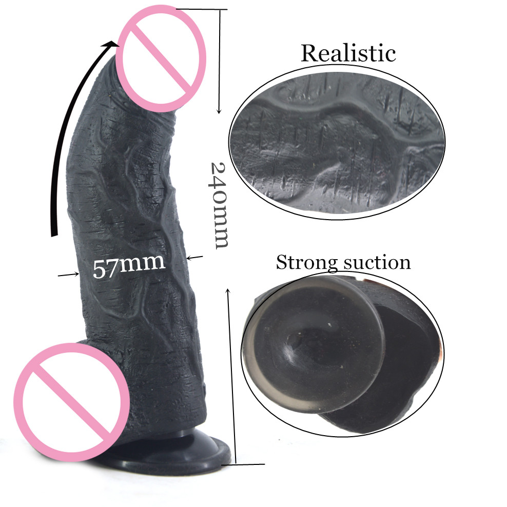 FAAK Big dildo curved realistic dildo sex toys for women fake penis with suction cup giant dildo lesbian masturbation sex shop двери книжка для шкафа купить