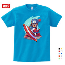 Lovely Captain America Kids T Shirt Boys Clothes Avengers Infinity War Superhero Thanos Hulk Tshirts for Girls Children Clothing