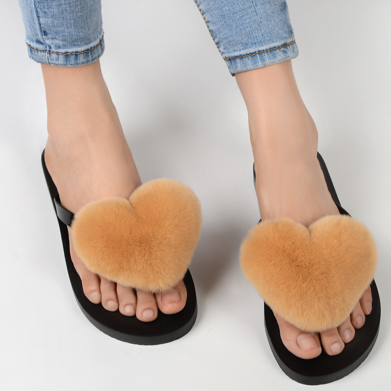 slipper real fur pompom (15)
