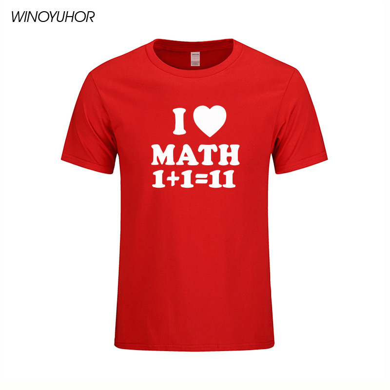 Aliexpress.com : Buy I Love Math T shirt Mens Funny Printed T ...
