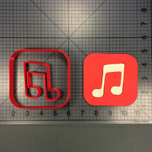 Custom Made 3D Printed Music Icon Cookie Cutter Set Fondant Cupcake Baking Accessories Molds Cake Decoration Tools