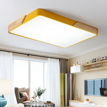 Nordic Simple Lighting Modern Household Atmosphere Makaron Solid Wood Chandelier Roof in Living Room