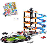 4Layers DIY Track 3D Car Racing Track Toys Car Parking Lot Assemble Railway Car Toy DIY Slot Model Toys for Children Boys Gifts