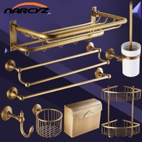 Античная полотенец Медь ванной стеллажи полотенец Европейская ванная комната аппаратных кулон suite XT1010