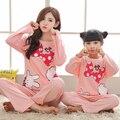 Carácter Pijamas del Desgaste de Ocio de la Ropa del Padre-Niño de La Familia Conjunto Madre e Hija de Ropa Madre Hija Ropa Conjuntos FF34