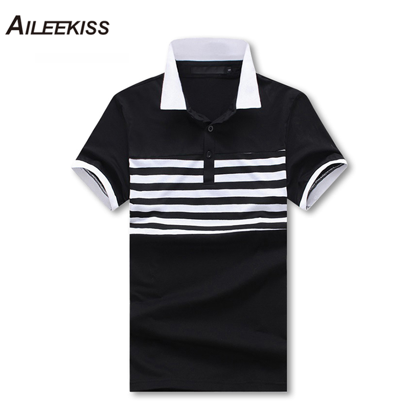 Summer Brands New Camisa   Polo   Masculina 2019 Mens Striped Smart Casual Stand Collar Work Shirts Plus Size S-2XL Male Tops XT686