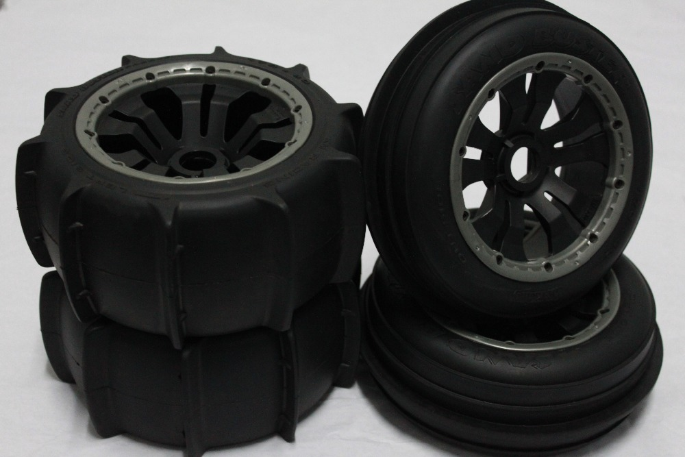 sand wheel completed set with posion rim for HPI KM ROVAN BAJA 5B front sand buster tyres tire set with nylon wheel 2pcs for baja 5b hpi km rovan