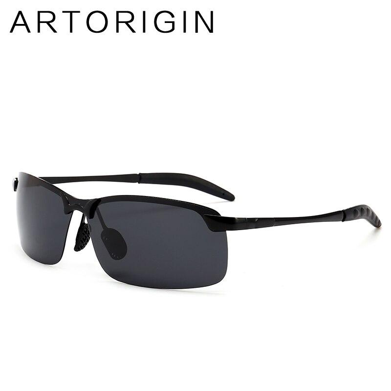 ARTORIGIN Vintage Sunglasses Men Polarized Retro Anti Glare Men Sun Glasses For Driving Half Frame Eyewear 3043
