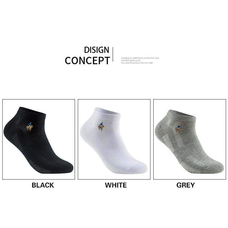 Image 5 - 10 pairs/lot Summer Style Cotton Mesh Short Socks For Men LOGO Embroidery High Quality Business Leisure Sports Male Socks Size-in Men's Socks from Underwear & Sleepwears