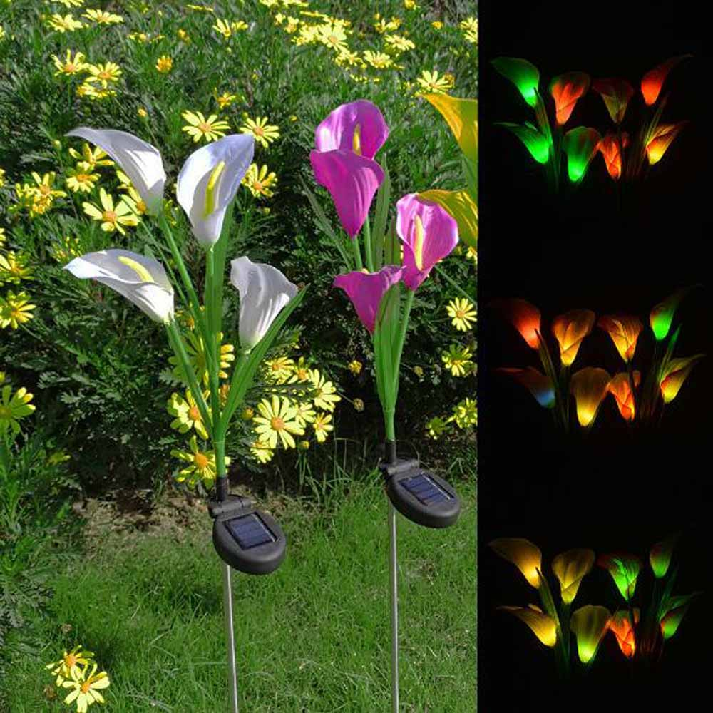 Solar LED Light Horseshoe Flower Lamp Garden Landscape Lamp Outdoor Yard Path