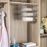 Creative Metal Racks Multi Function Home Kitchen Refrigerator Compartment Wardrobe Simple Student Dormitory Storage Cabinet Rack