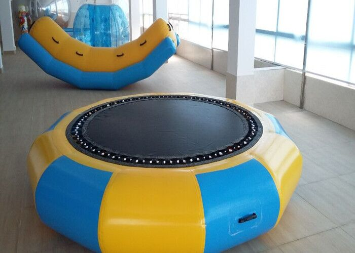 0.6mm PVC Inflatable Round Trampoline 2 M Diameter Water Trampoline Warehouse Price Inflatable Toys ao058m 2m hot selling inflatable advertising helium balloon ball pvc helium balioon inflatable sphere sky balloon for sale