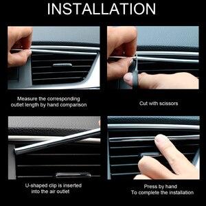 Image 5 - Tira decorativa para rejillas de ventilación Interior de coche, bricolaje, en forma de U, para Chevrolet Cruze Orlando Lacetti Malibu Volt Camaro