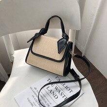 2019 New Fashion Straw Large Beach Handbags Woven Rattan Square Shoulder Bag Women Summer Handmade Messenger Crossbody Bags