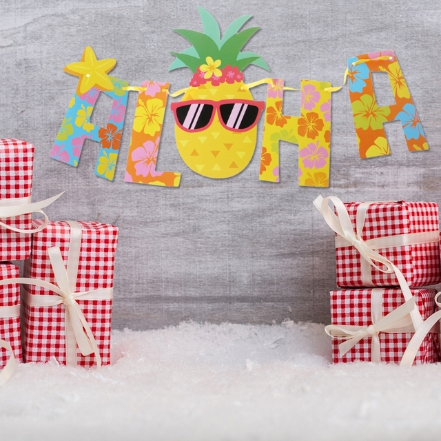 2 2 Meters Luau Party Banner Aloha Hawaii Theme Party Decoration