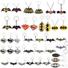 65d980c53af1 RJ Venta caliente vengadores 3 Batman vs Superman Logo collares colgantes  superhéroe murciélago Deadpool hombres dama collar reg.