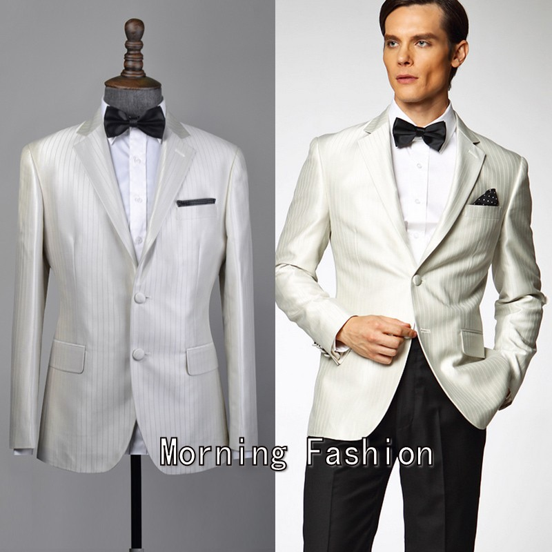 Black and white party dress for men