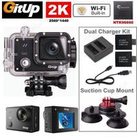 Free Shipping Gitup Git2 Pro WiFi 2K Sports Camera Battery Charger Triple Suction Cup Stand