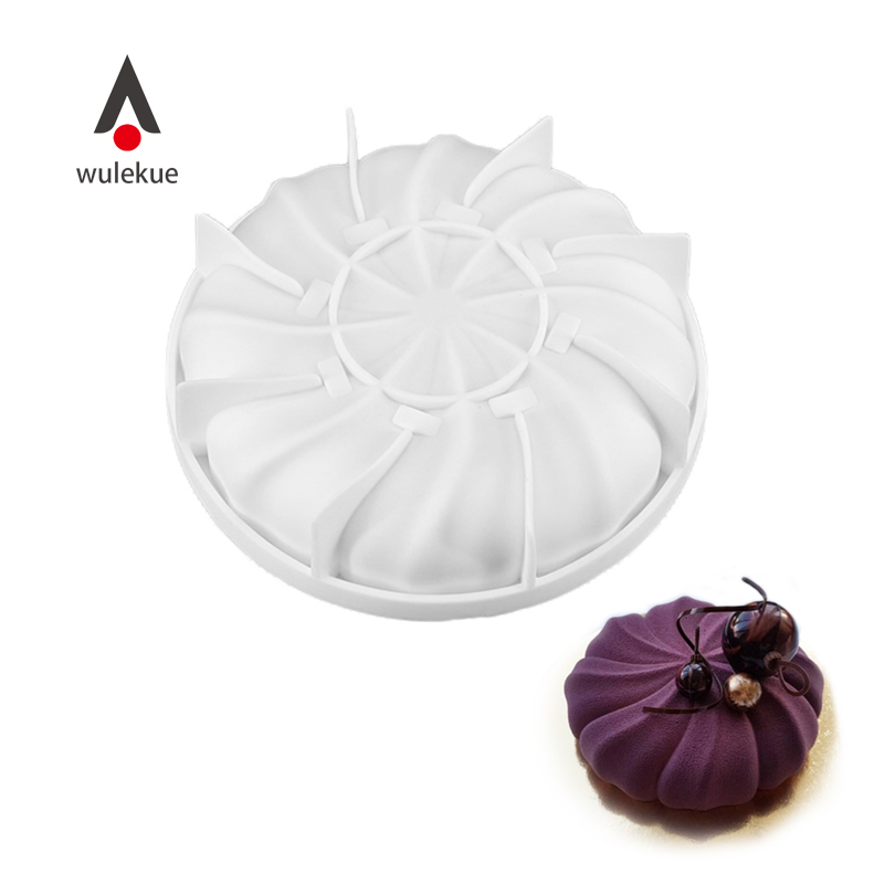 Wulekue Silicone Whirlwind Cake Baking Mold For Mousse Dessert Chocolate Brownies