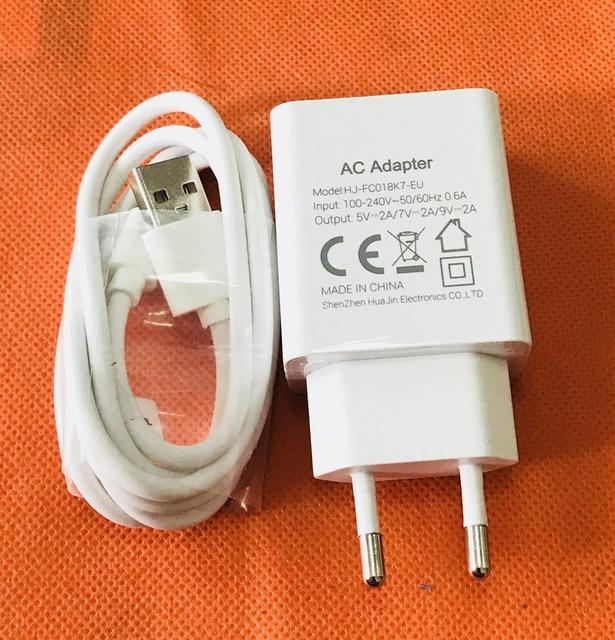 Carregador usb original plug + cabo usb para oukitel k7 mt6750t, frete grátis