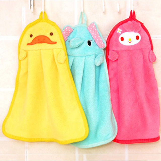 towel for kids. Cute Animal Microfiber Kids Children Cartoon Absorbent Hand Dry Towel Lovely For Kitchen Bathroom Use 1