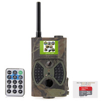 12MP Digital Game Cam Trail Camera with GSM Email 2 LCD Screen (Camo Green) + Micro SD Card 32GB