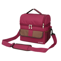Double Layer Fashion Portable Multifunction Lunch Bag Thermal Food Picnic Lunch Bags For Women Cooler Lunch
