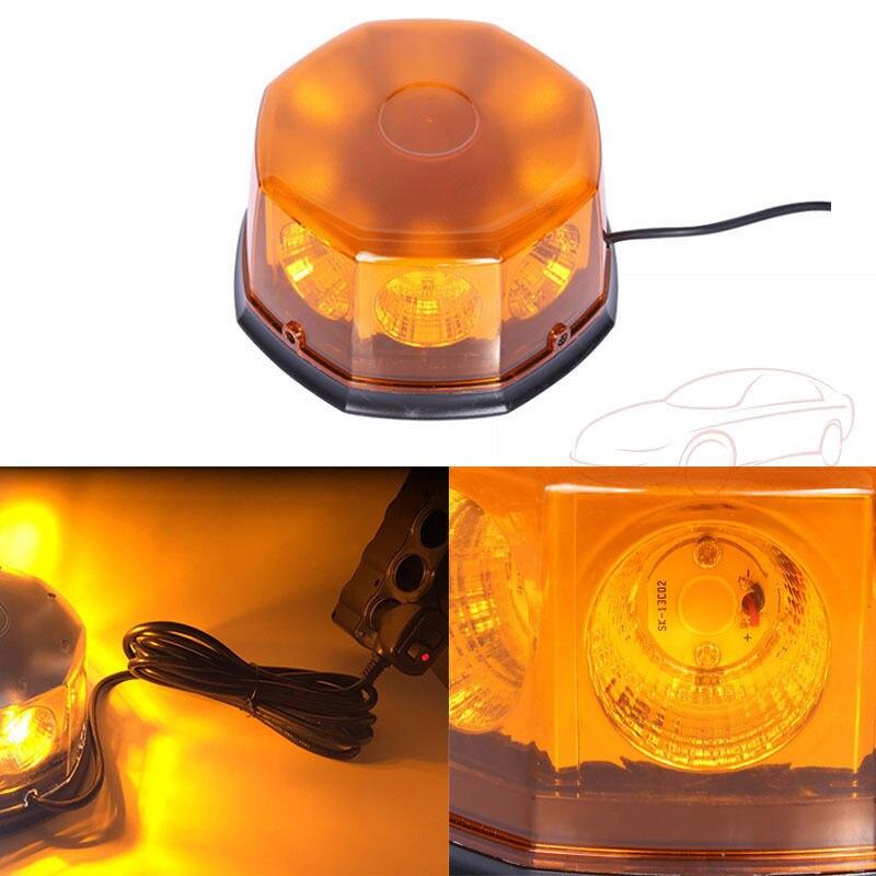 CYAN SOIL BAY COB 40W LED Amber Yellow Beacon Vehicle Magnetic Lamp Warning Emergency Strobe Light 12V