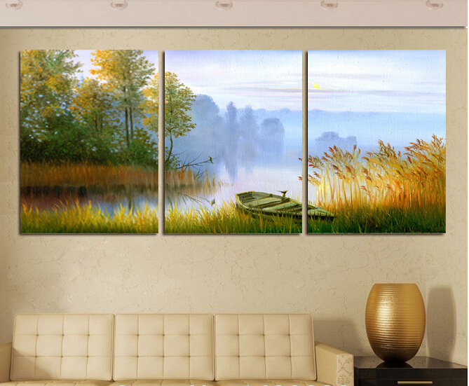 3 Panels Home Decoration Abstract Art Wall Painting Flower