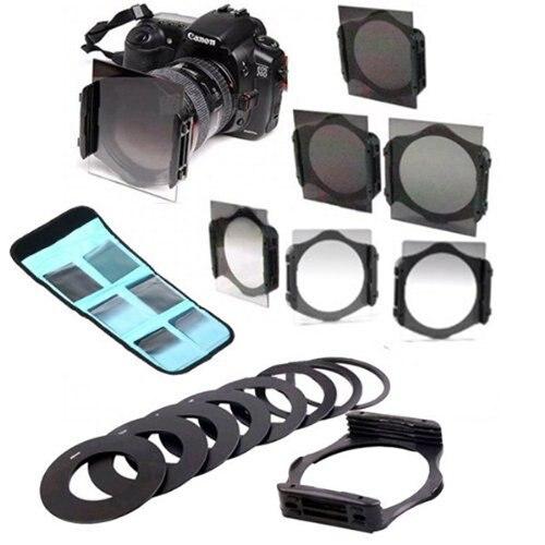 Conjunto de filtro ND Gradual de lente de cámara Digital 17 en 1 para la serie Cokin P